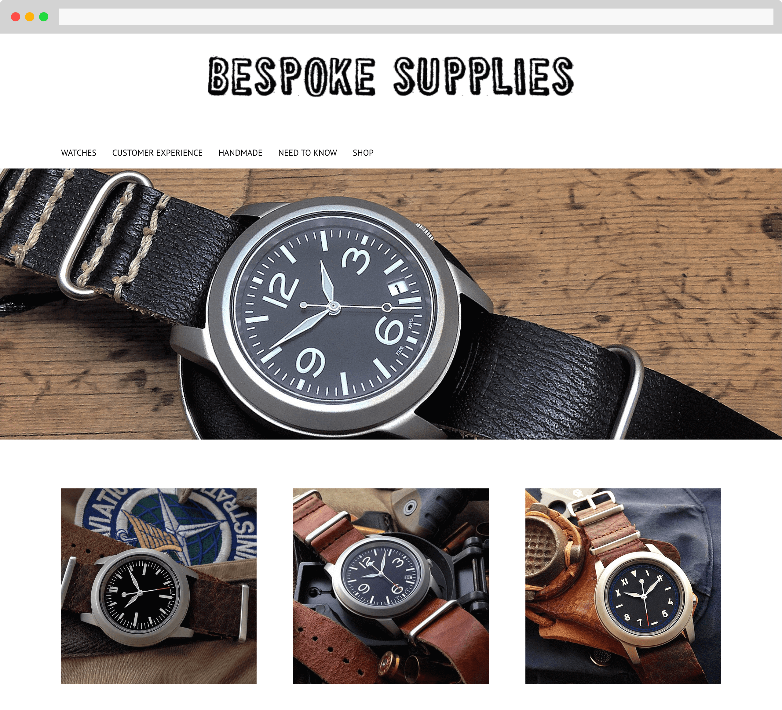 Bespoke Supplies website