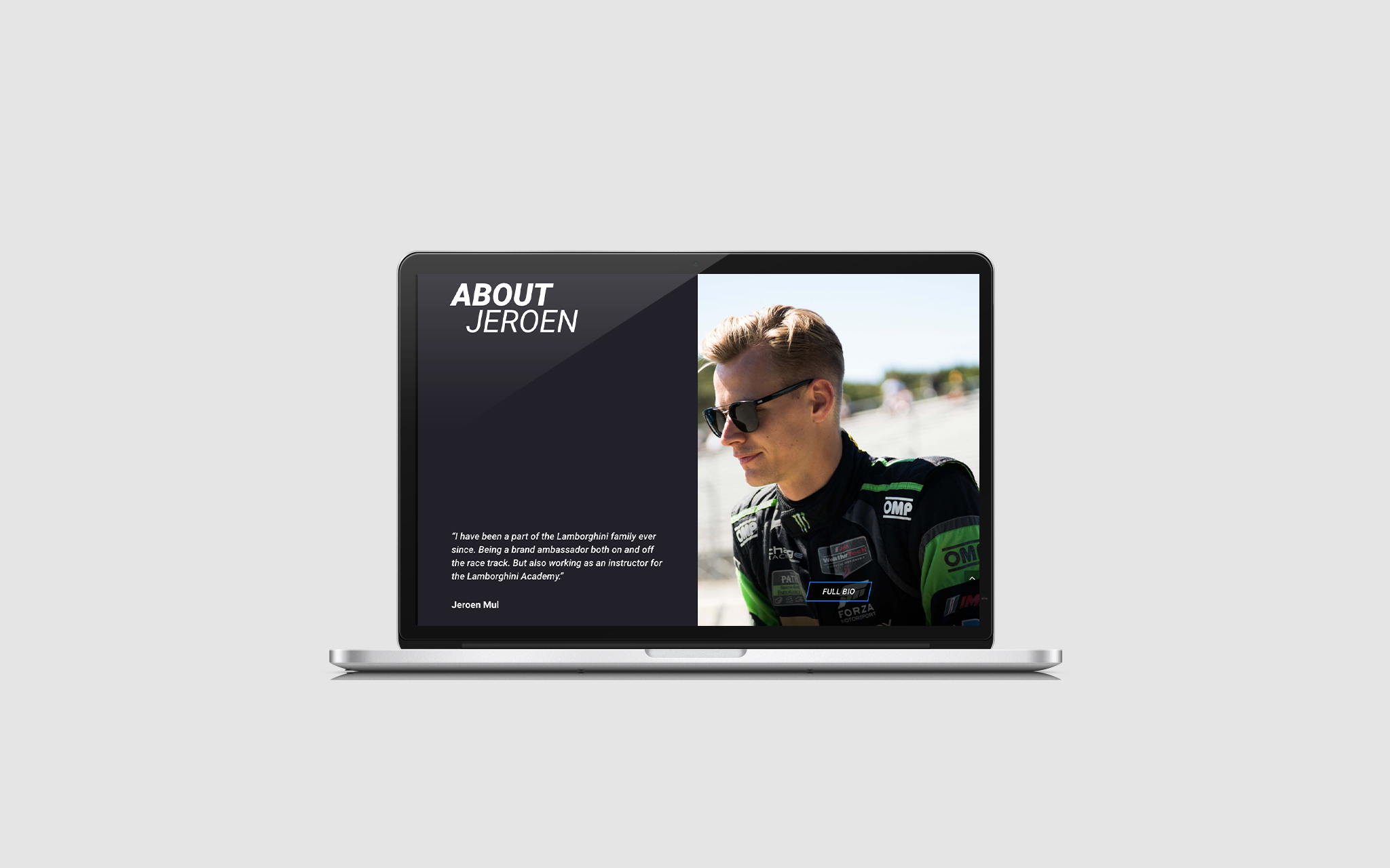 Jeroen Mul website in mockup