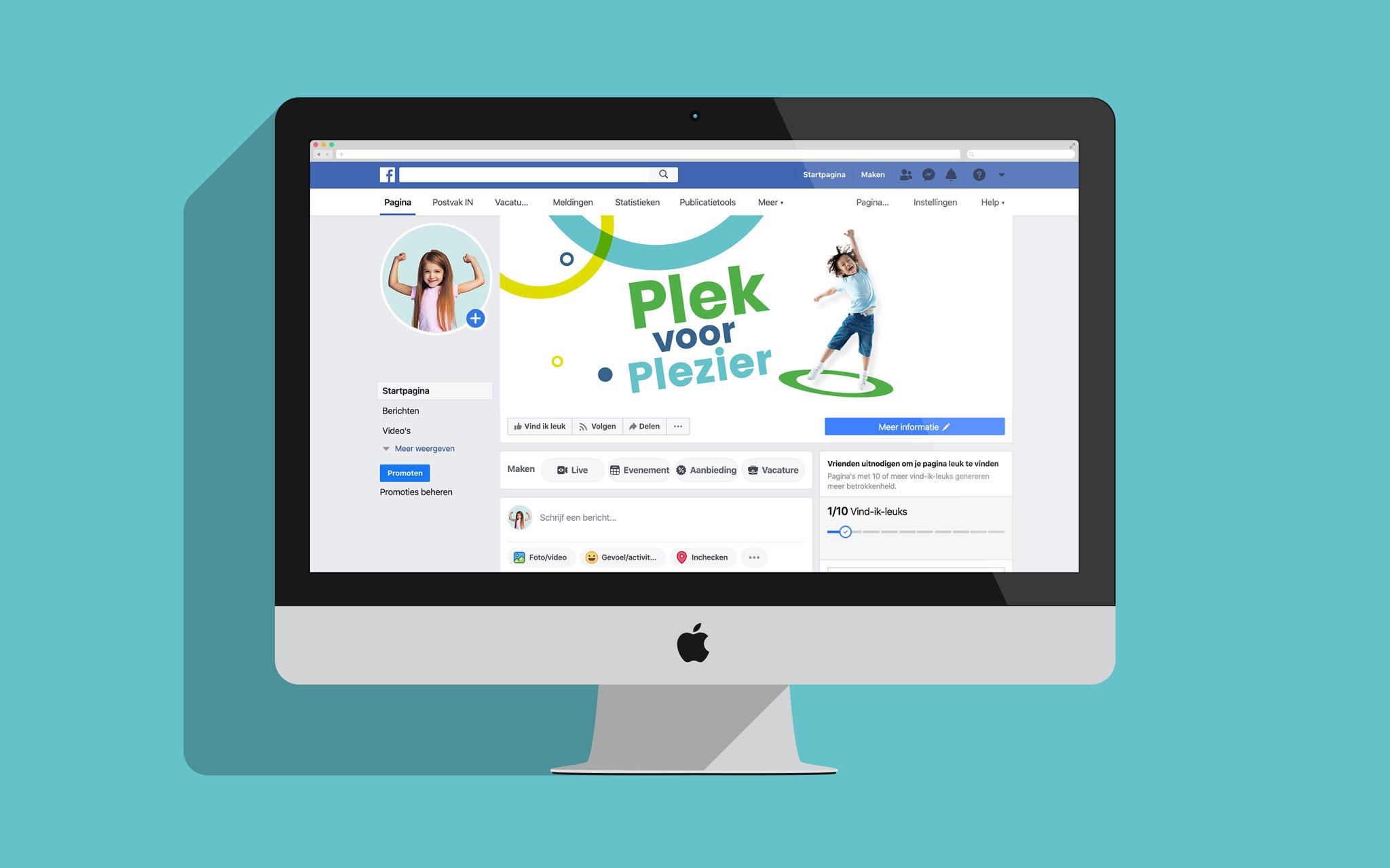 Hero kindercentra voorstel Facebook in mockup