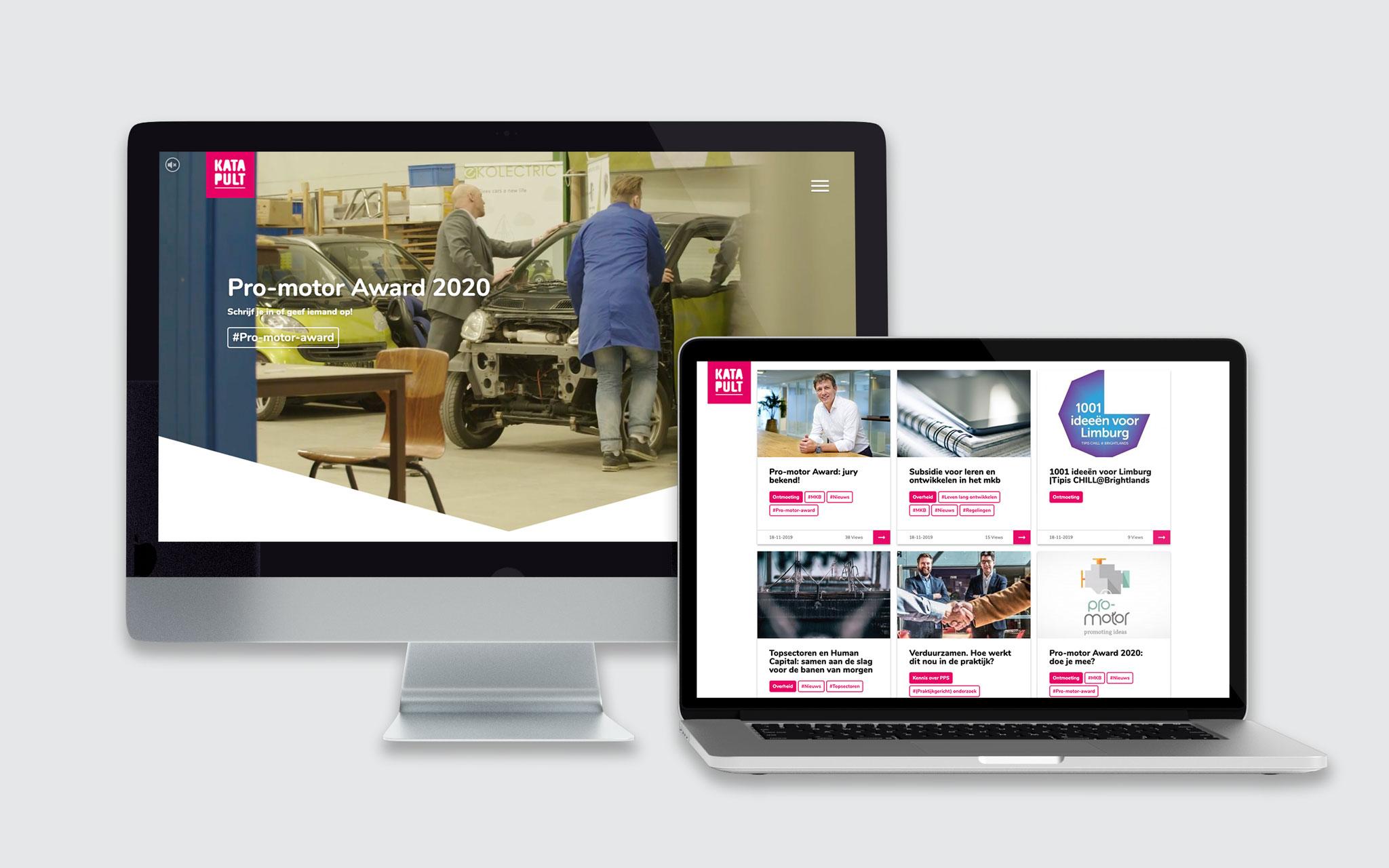 Katapult website in mockups