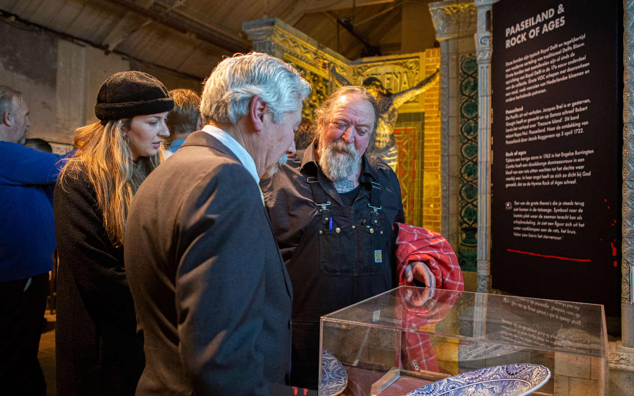 Foto Henk Schiffmacher, Morrison Schiffmacher in Royal Delft expo