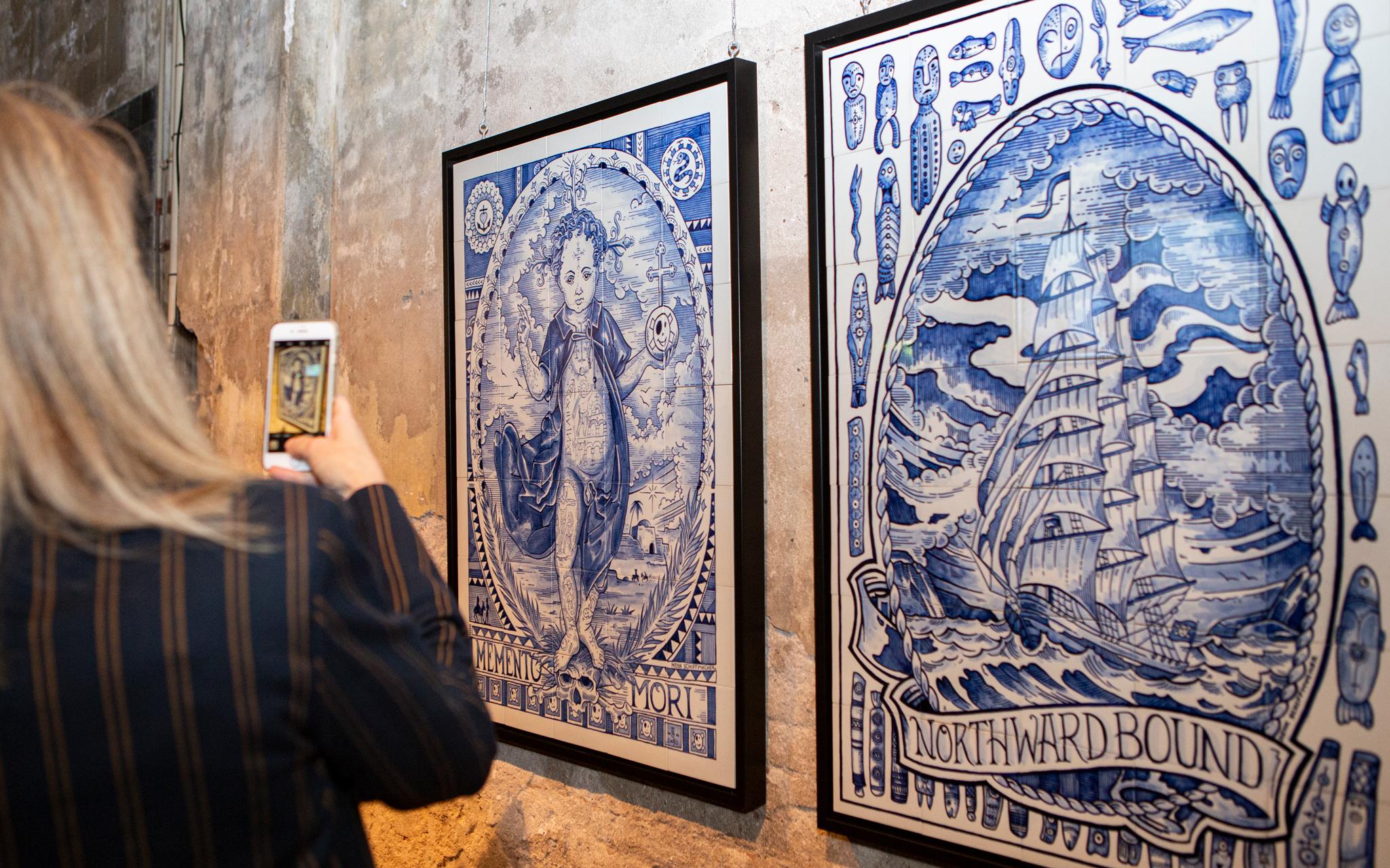 Schiffmacher Royal Blue Tattoo foto expositie