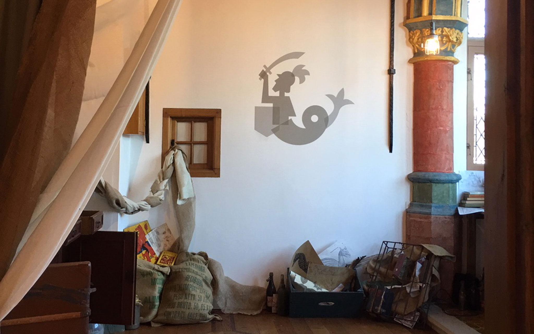 Het Markiezenhof de Zeeridder op muur