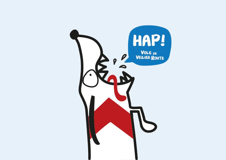 Spoorzone Delft illustratie hondje