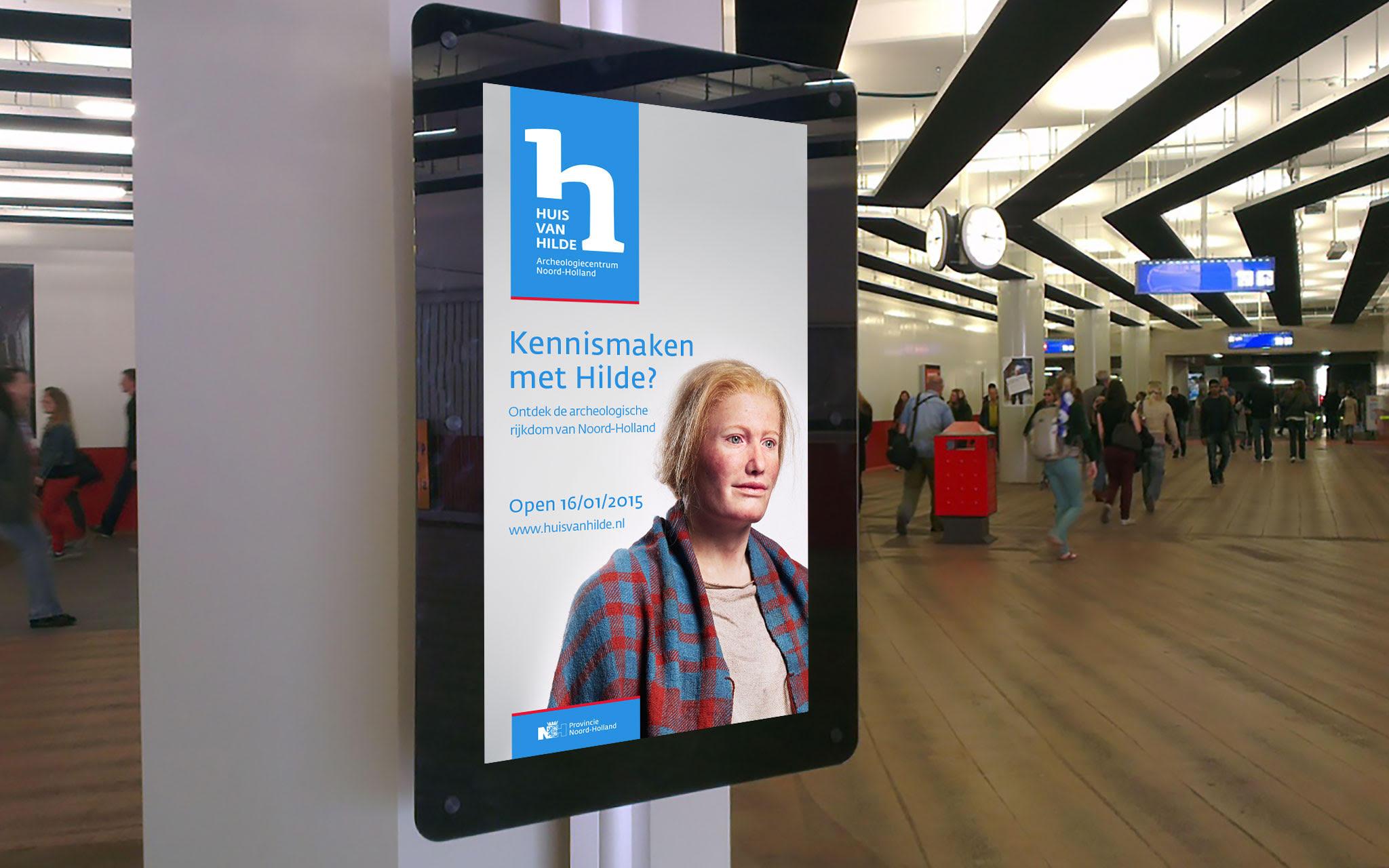 Huis van Hilde reclamebord Amsterdam centraal