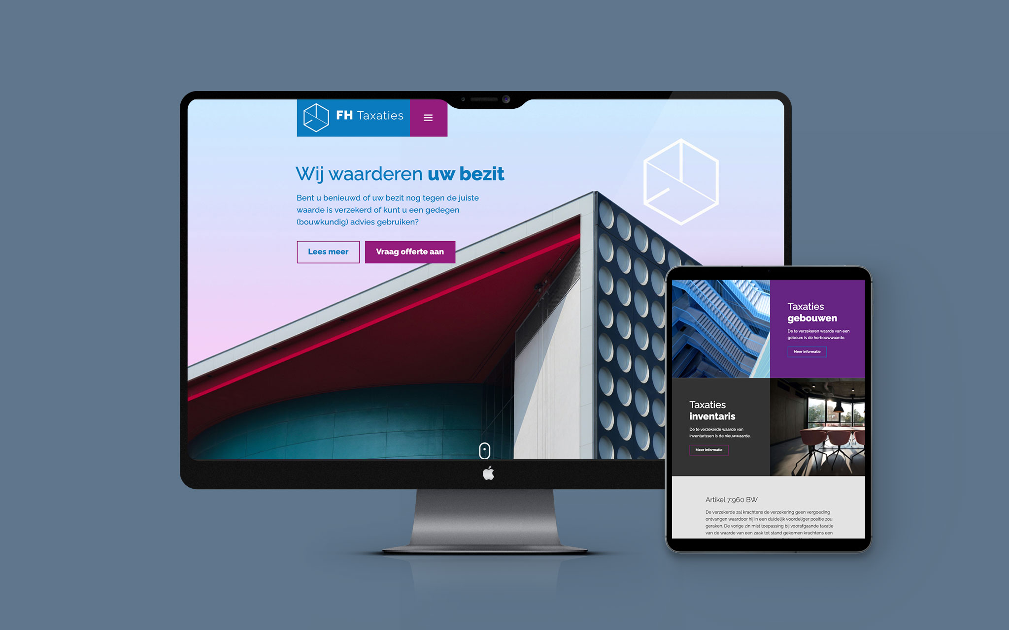 FH Taxaties responsive website ontwerp