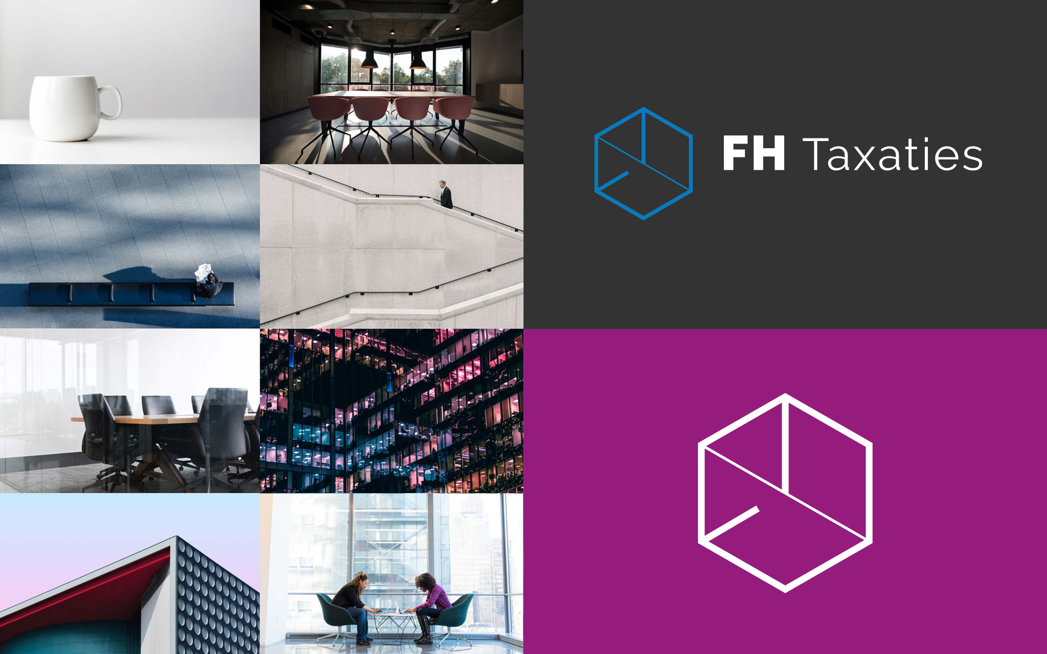FH Taxaties visuele identiteit