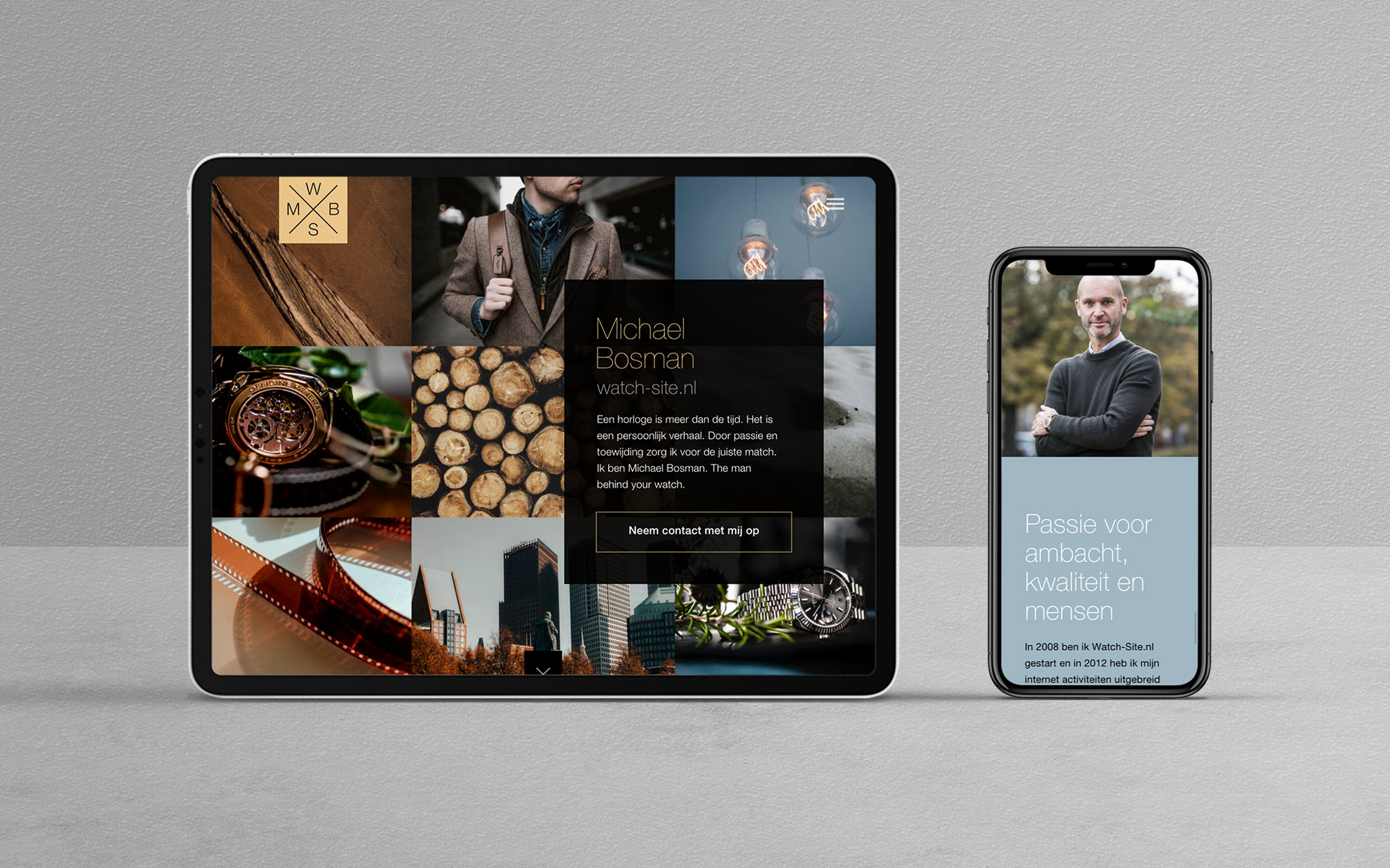 Micheal Bosman Watch-Site responsive website ontwerp