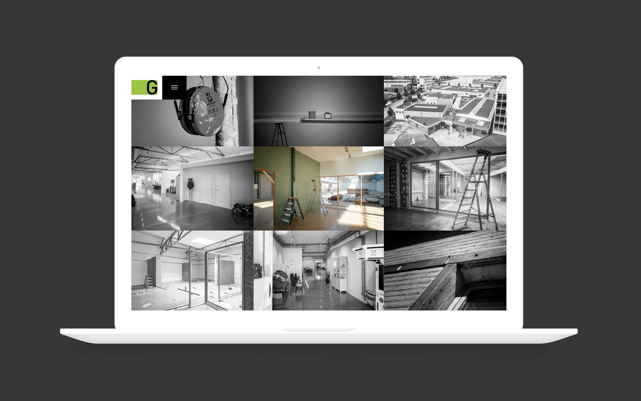Gerose Vastgoed Ontwikkeling website ontwerp op laptop