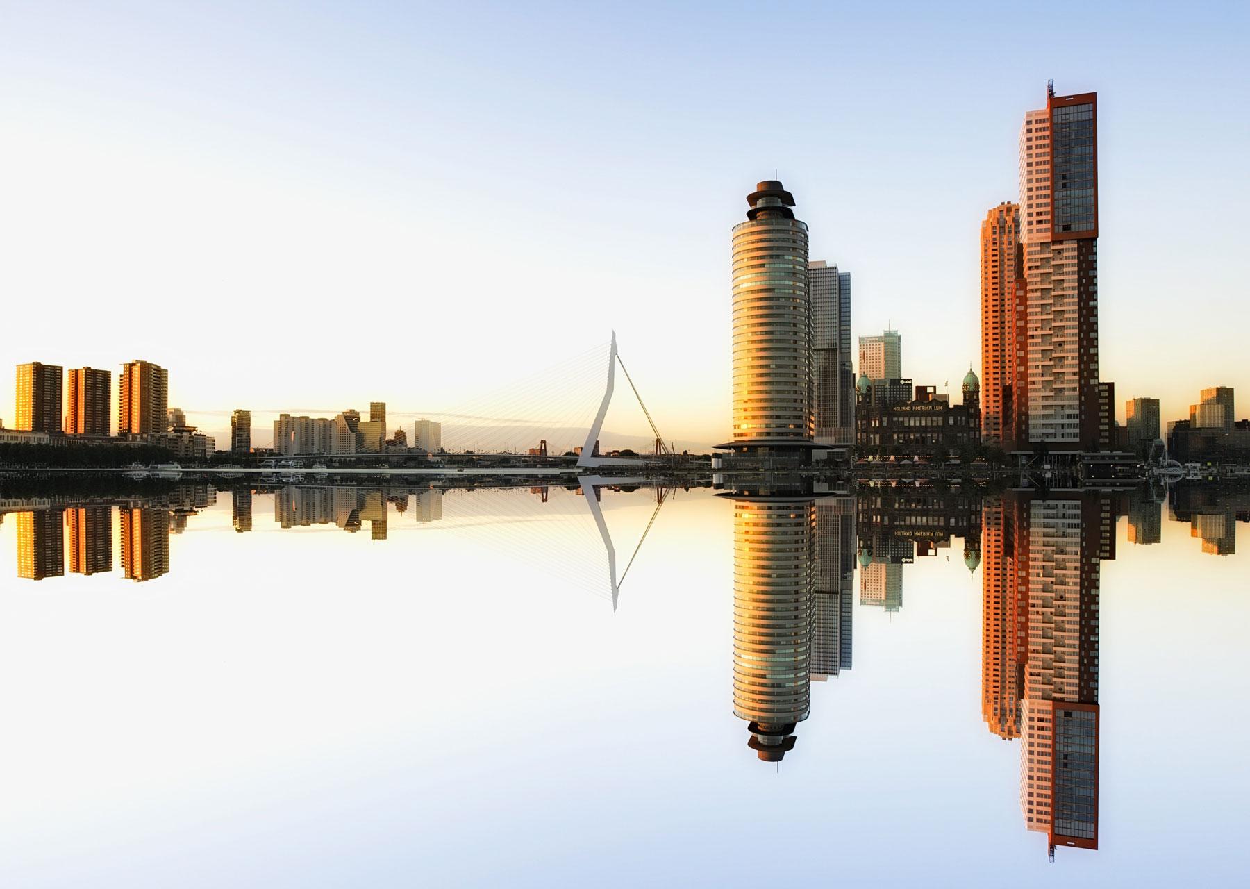 Bureau Kroner 's-Gravenweg Het beste van twee werelden skyline van Rotterdam