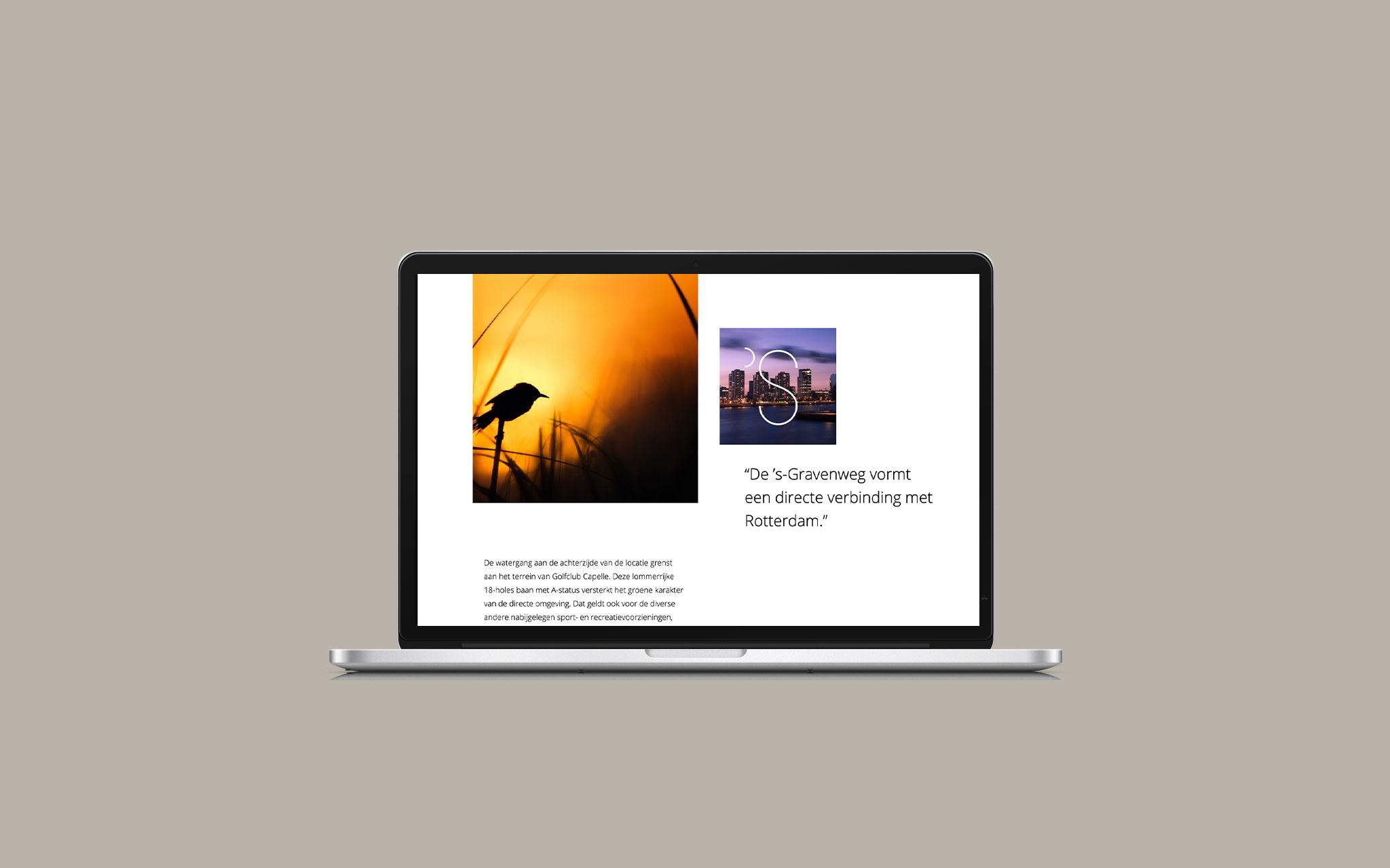 Bureau Kroner 's-Gravenweg Het beste van twee werelden website op desktop